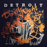 1987 Detroit Fire Department Devis Night shirt back
