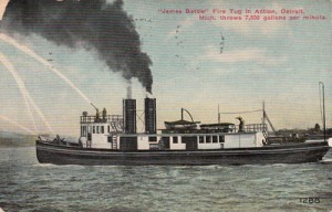 fireboat james battle postcard