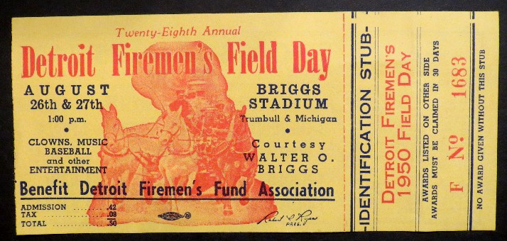 1950 field day ticket