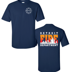 Detroit Fire Duty Shirt Classic Skyline Design