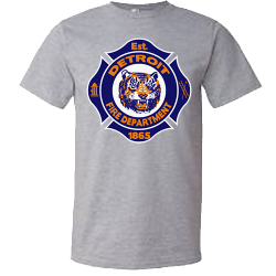 Detroit Firefighter Tiger Shirt