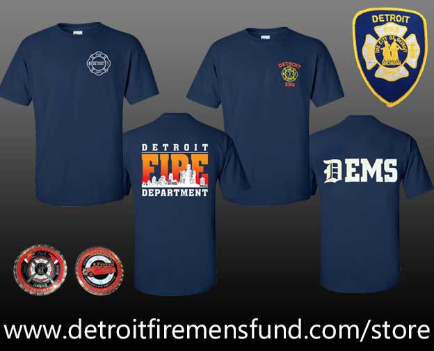 Detroit Firefighter t-shirts