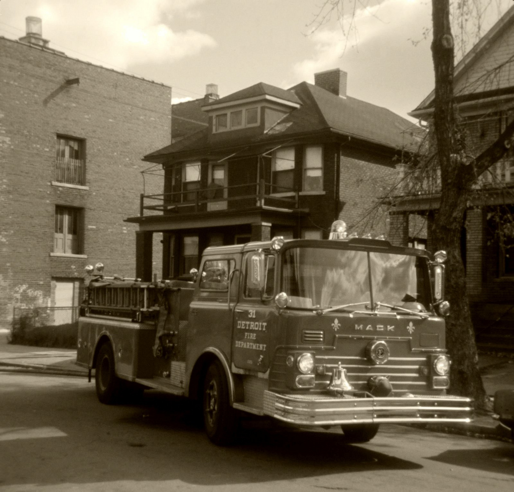Detroit Fire Department Engine 31 in 1974