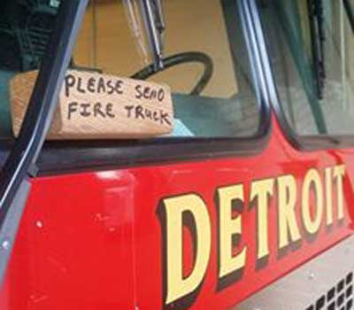Detroit-Fire-wooden block-alert-system